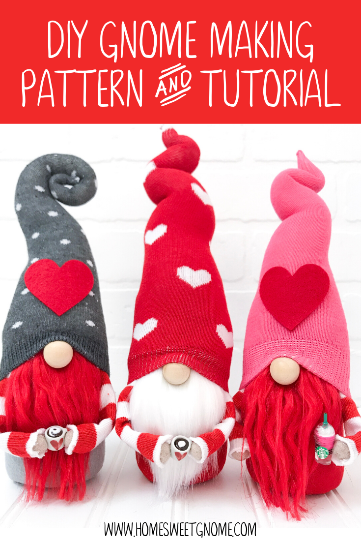DIY Gnome Making Pattern - Make your own Valentine