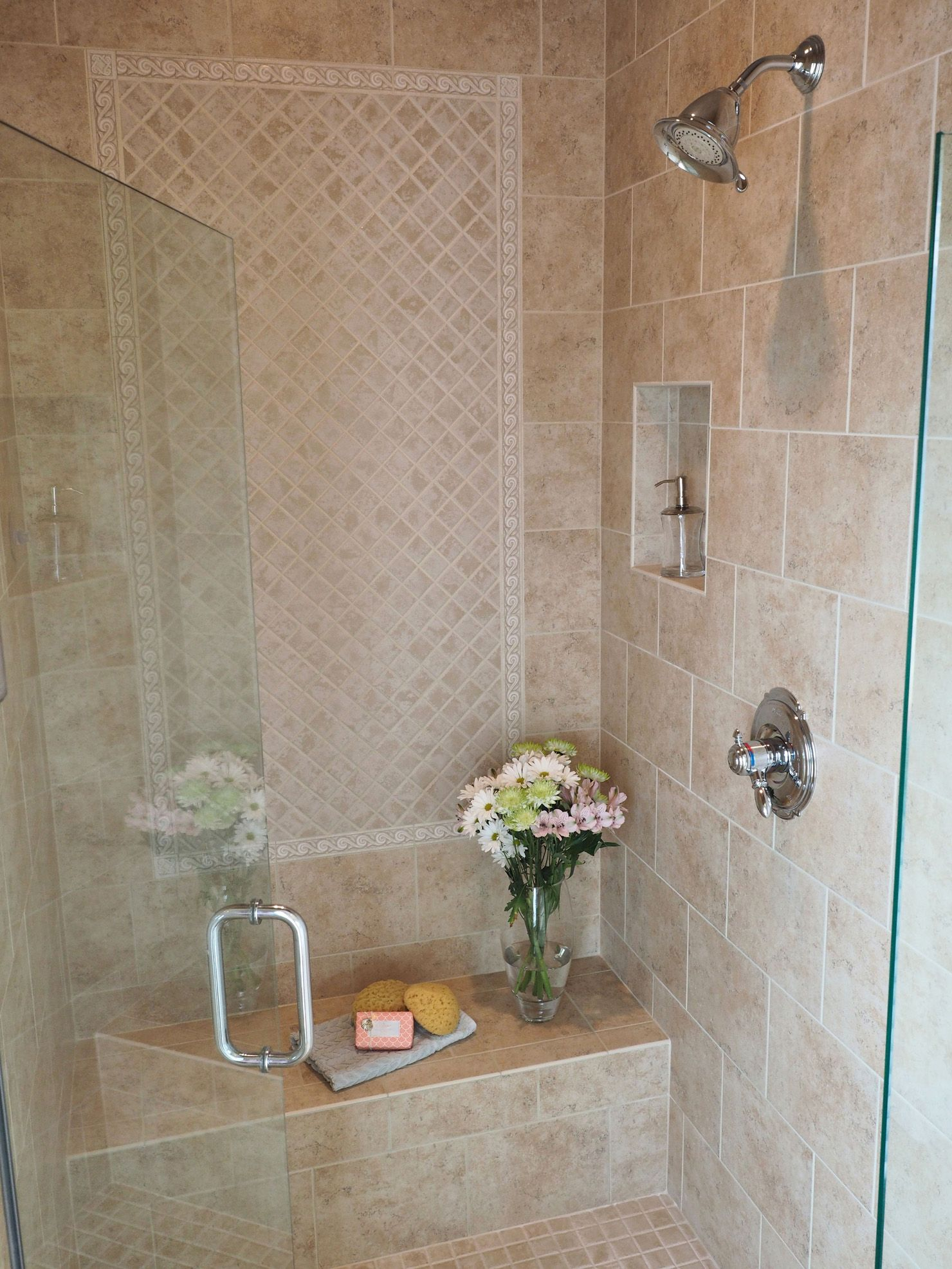 The Shower Featuring Dal Tile Brixton Series And The Color Is