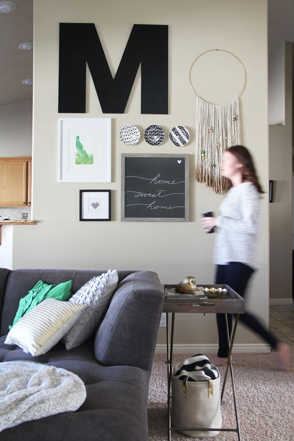 Living Room Makeover and fun gallery wall Decorate Pinterest