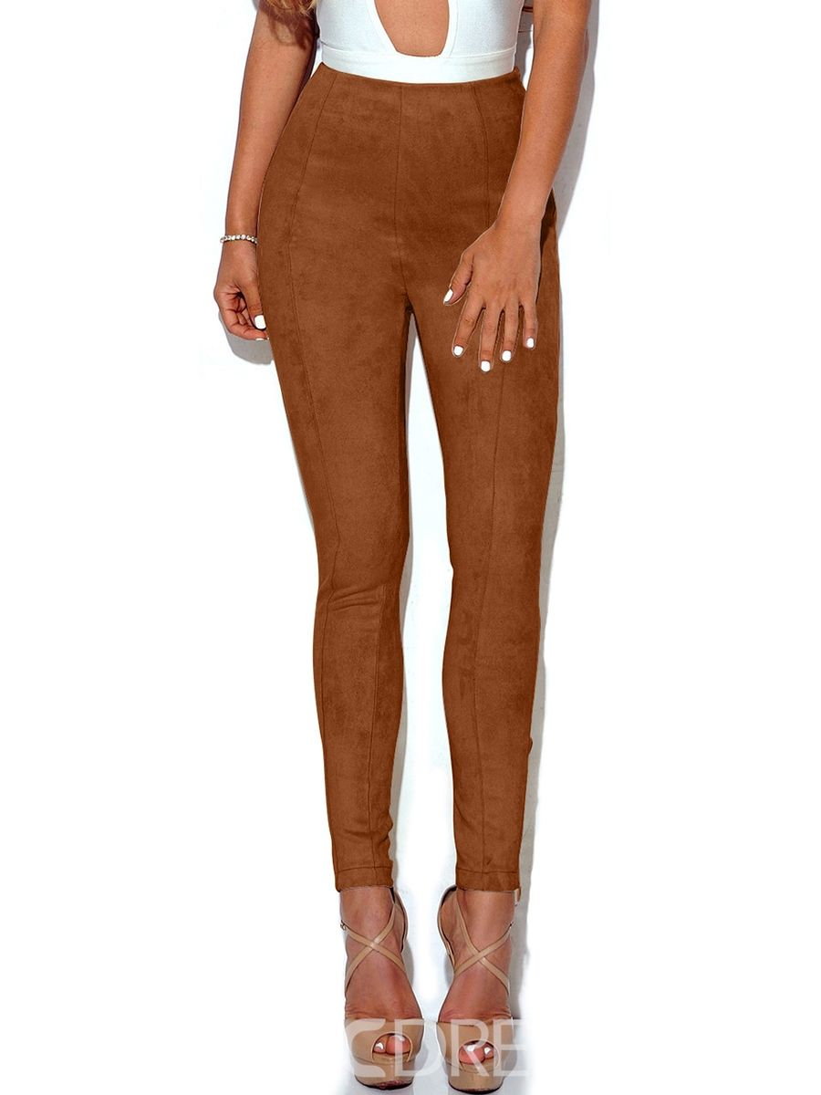 bb55a807d0f77 Ericdress High Waisted Tight Cafe Women's Leggings | Clothes I Love ...