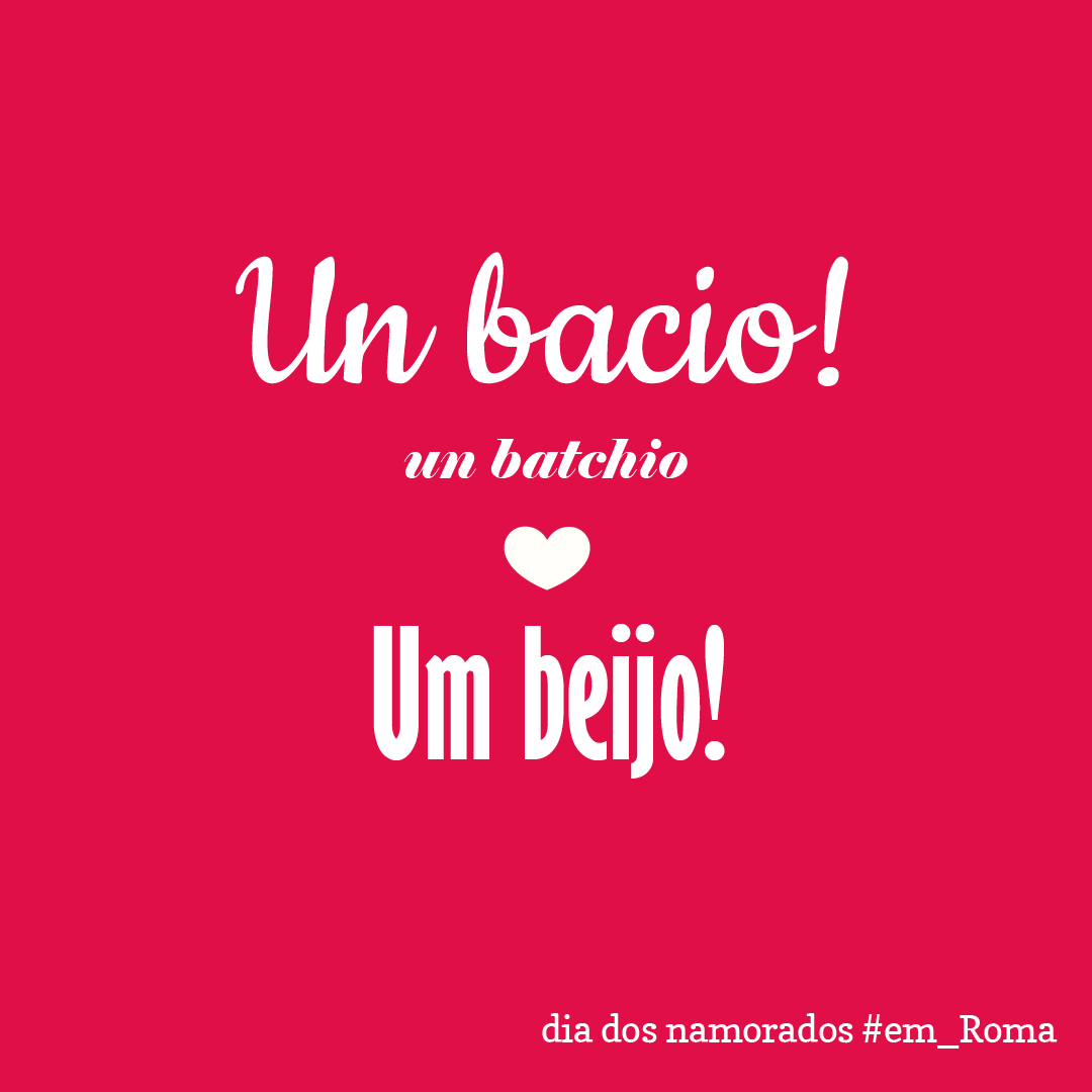 Frases de amor em italiano Em Roma