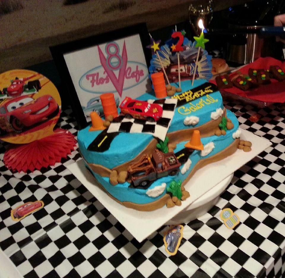 Disney Cars birthday cake Gabriels Cars Party Pinterest