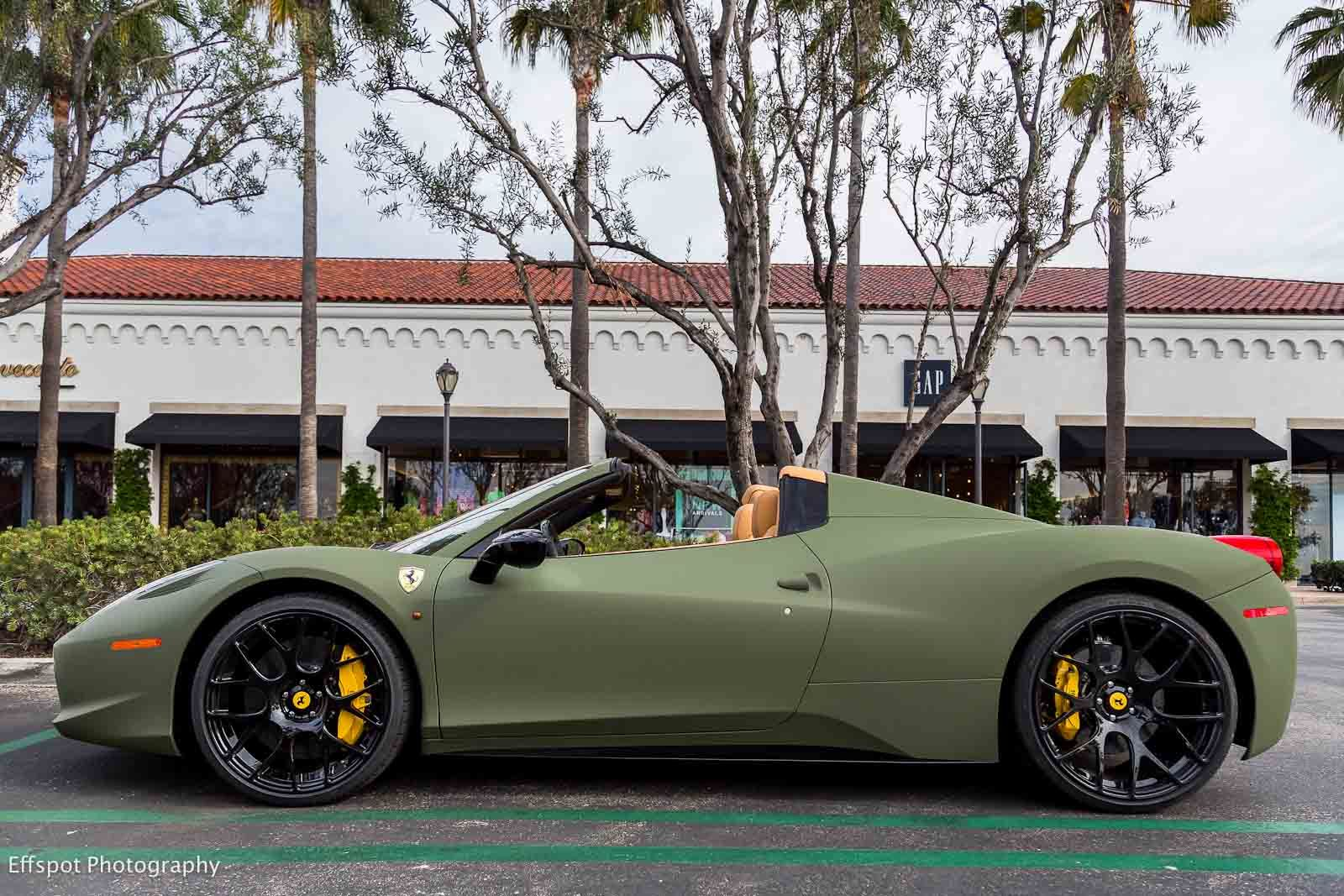Matte Green Ferrari 458 Italia Luxury Lifestyle Pinterest