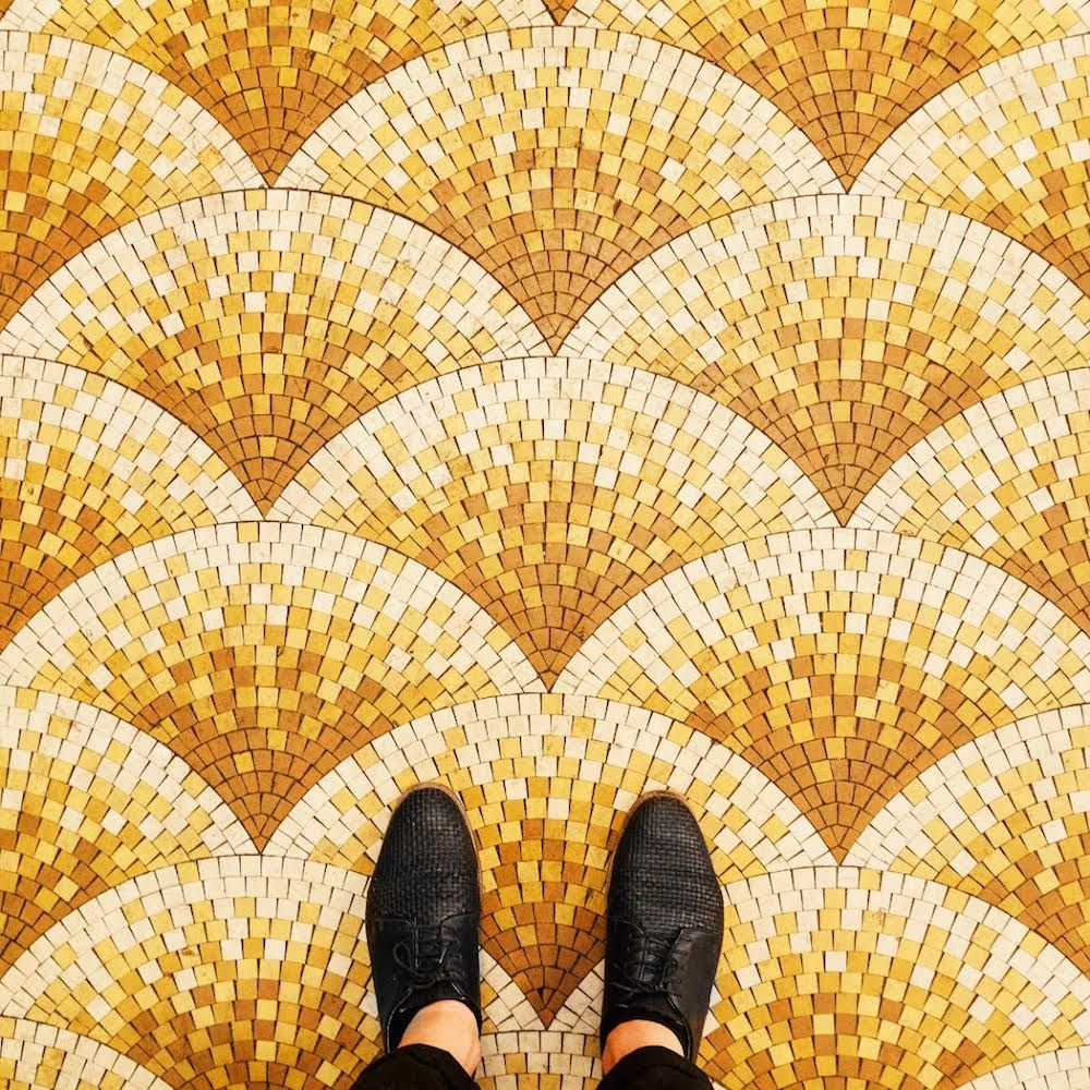 The ornate mosaics and colorful tiles of parisian floors shared the ornate mosaics and colorful tiles of parisian floors shared through photographer sebastian erras instagram dailygadgetfo Images