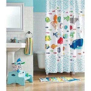 circo fish shower curtain kids