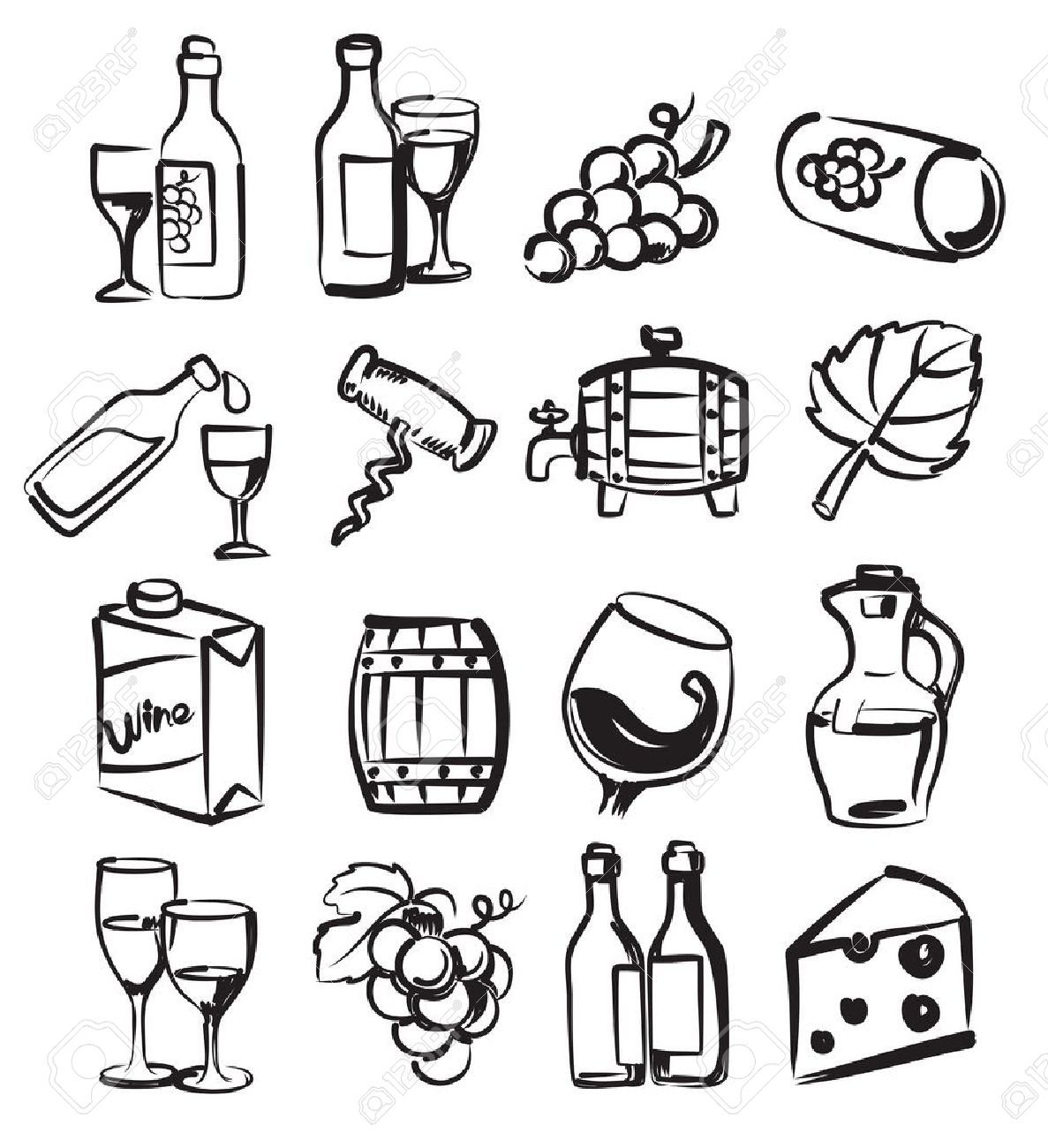 Image Result For How To Draw Icons Wine Icon How To Draw Hands Wine Tattoo
