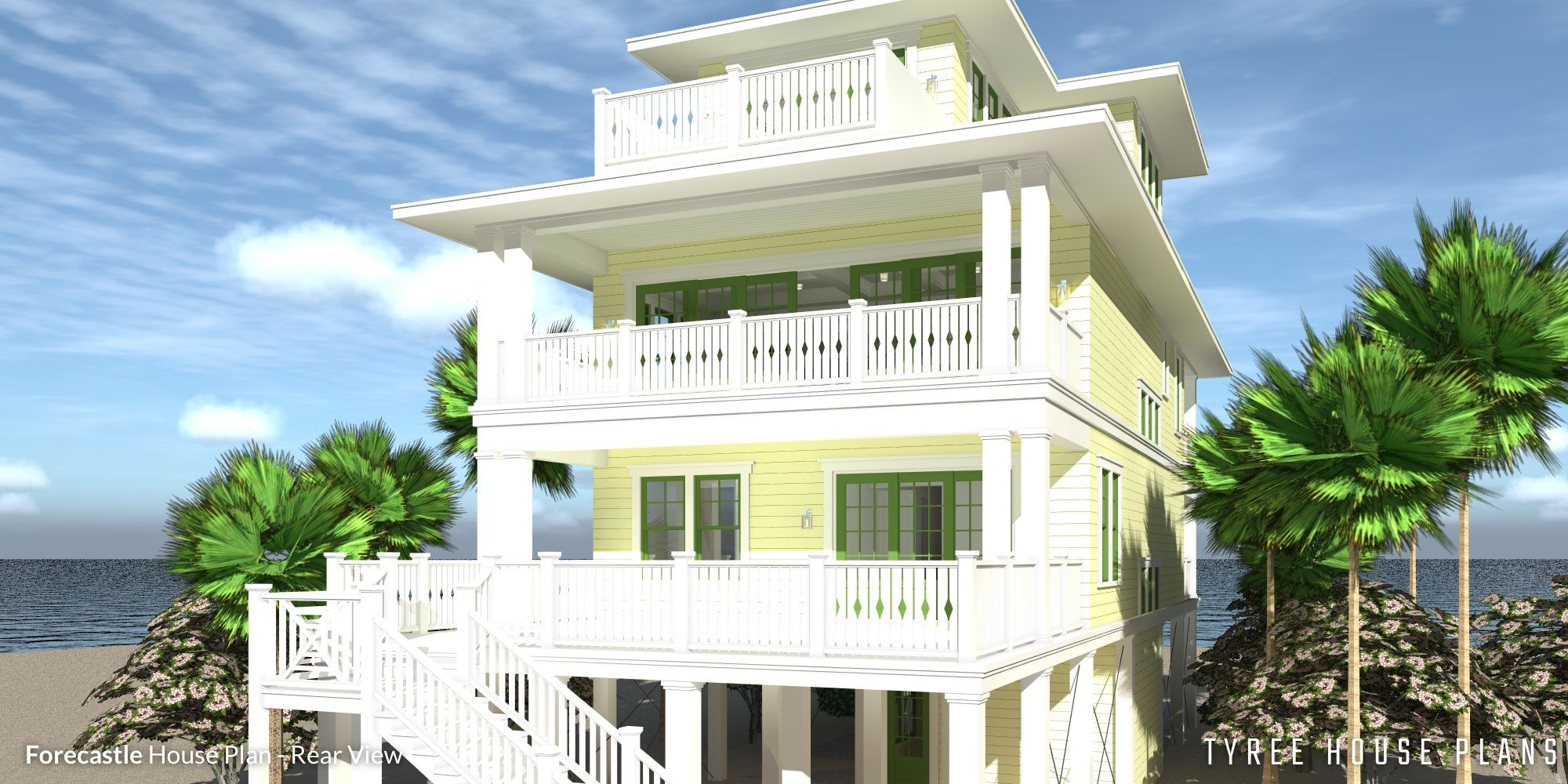 4 Story Beach House Plan 4 Bedrooms Tyree House Plans Beach House Plans Beach House Plan Coastal House Plans