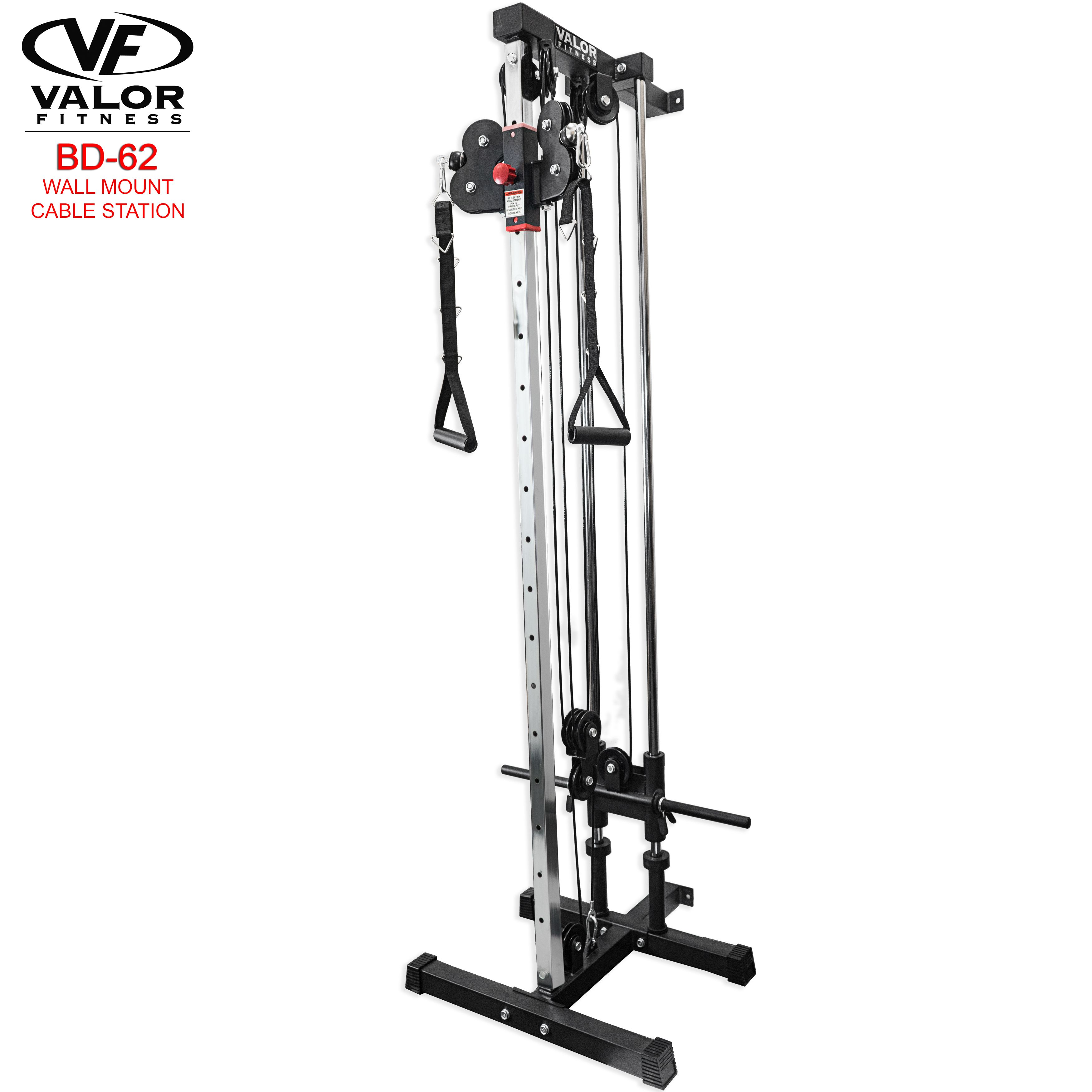 Bd62 wall mount cable station home gym wall mount station
