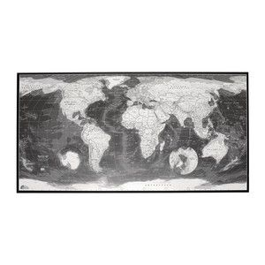 Monochrome Map Plastic 47x25, $71, now featured on Fab.