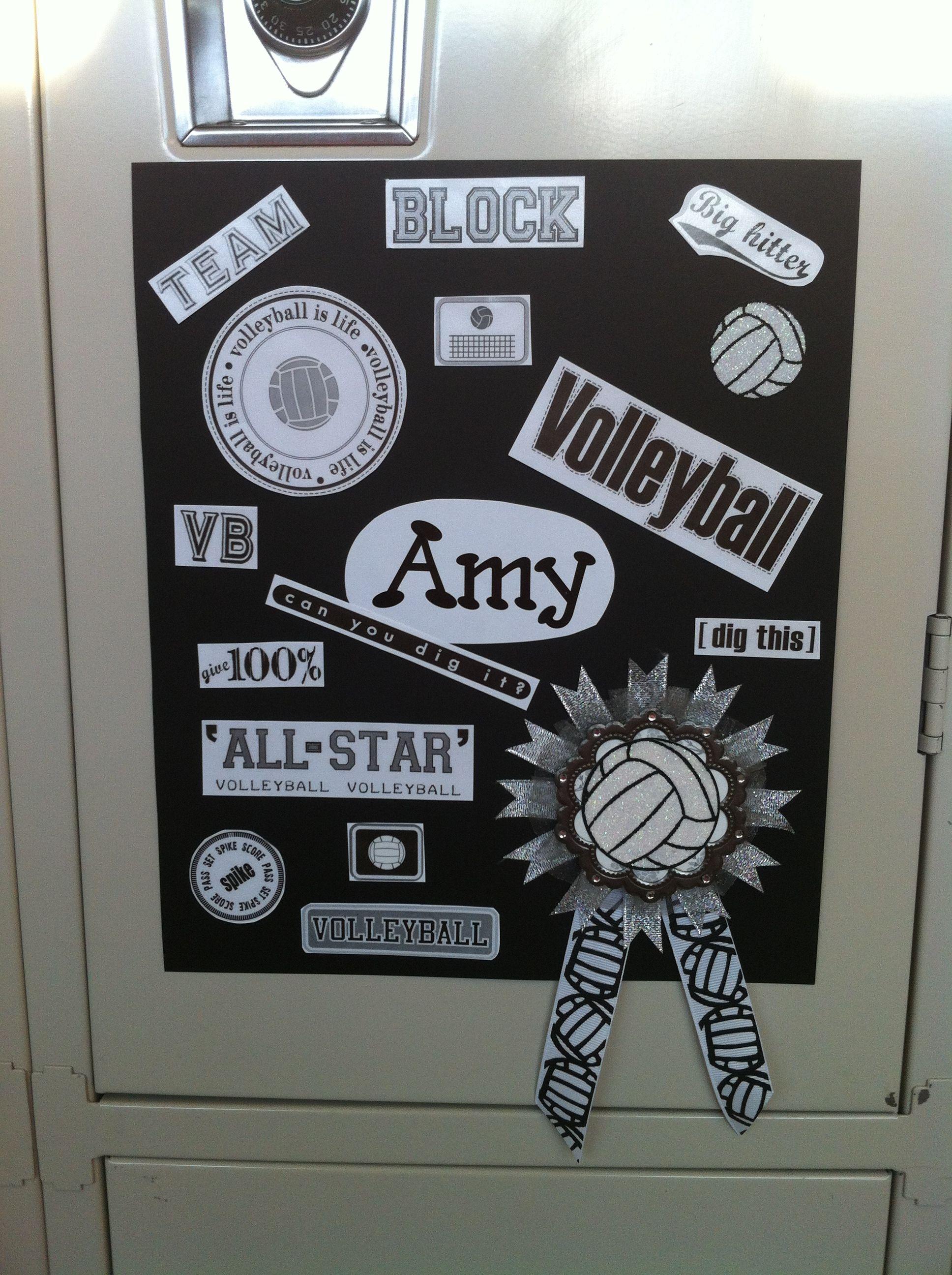 Homeschooler S Bedroom Door Locker Decoration For Spirit Week Volleyball Locker Volleyball Locker Decorations Locker Decorations