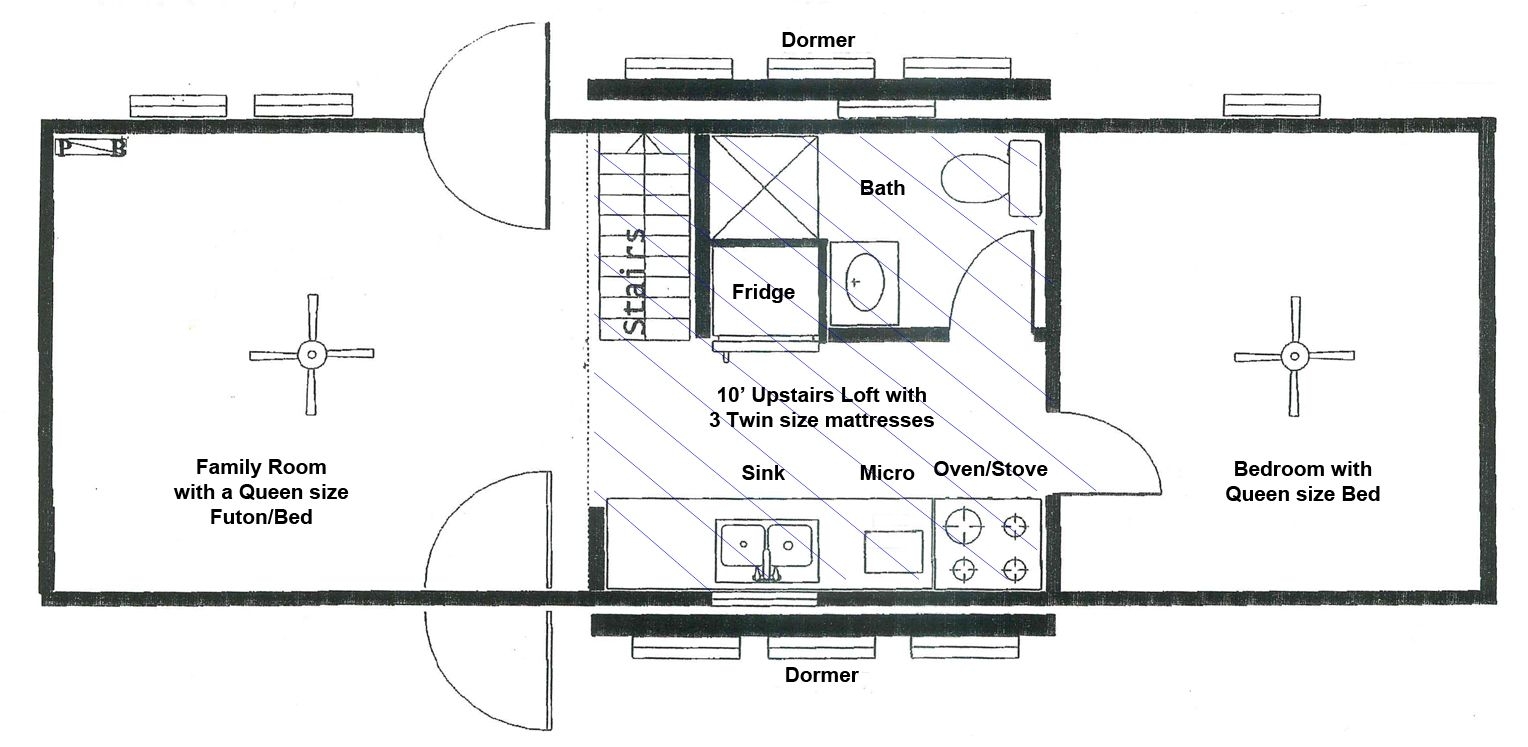 Layout of Family Cabins at Lake Rudolph Campground & RV