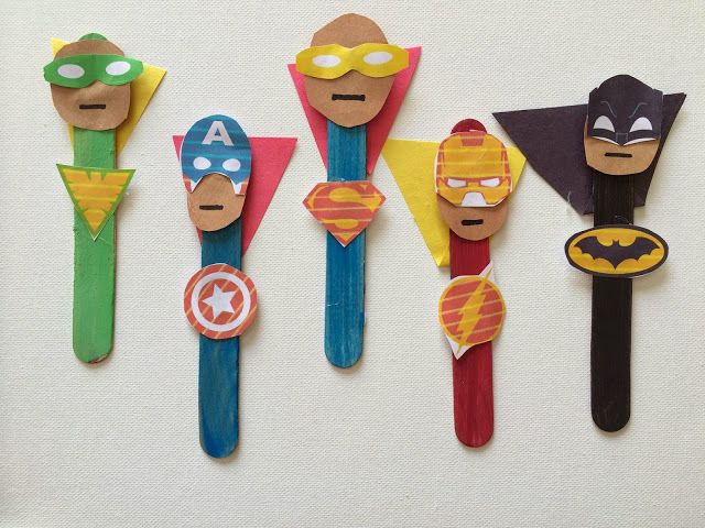5 Superhero Crafts for Kids - The Chirping Moms #superherocrafts