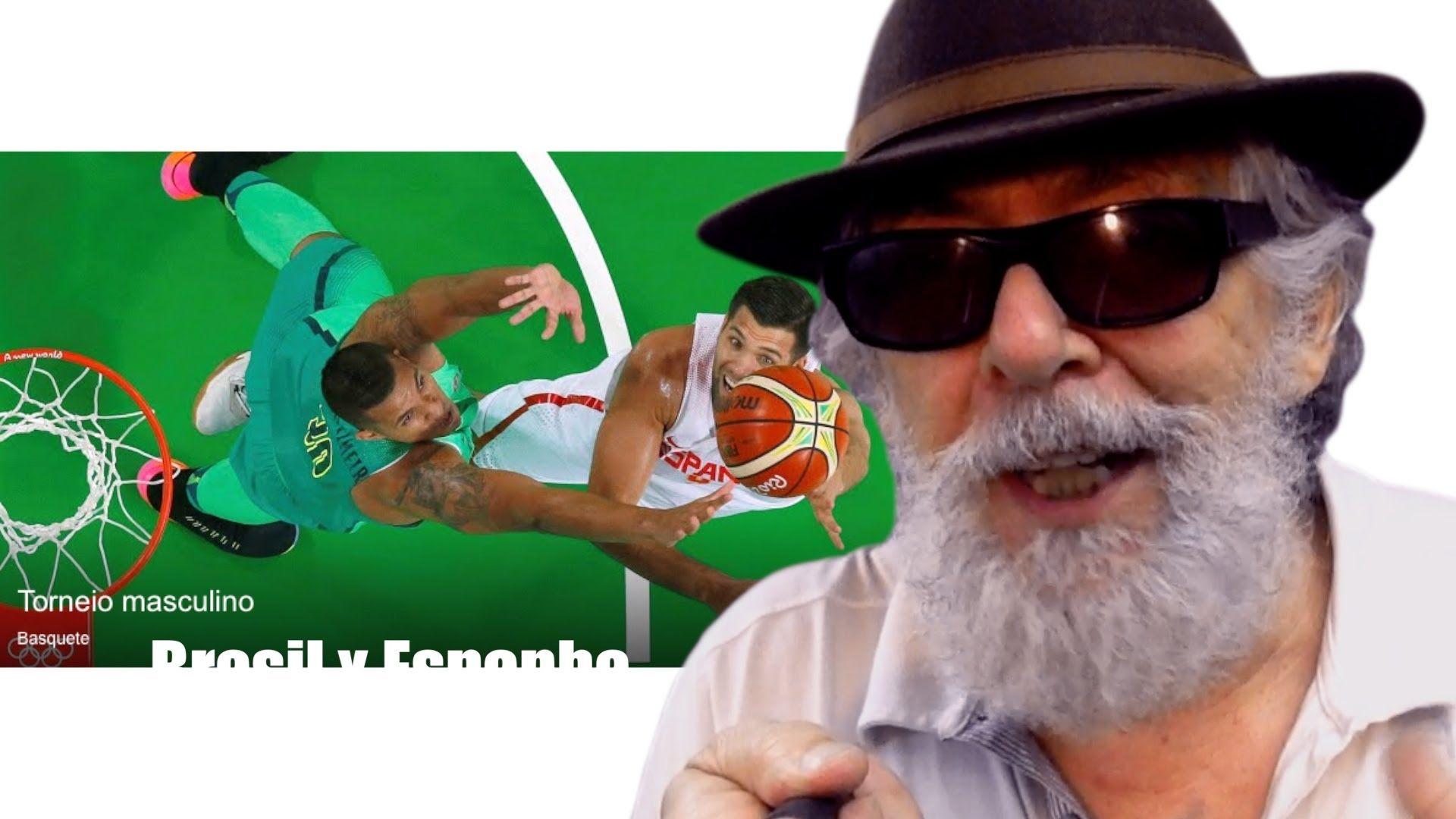 Comentarista chora frente às Cameras - Live - Basquete Brasil vs Espanha...