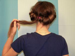 Headband curls.