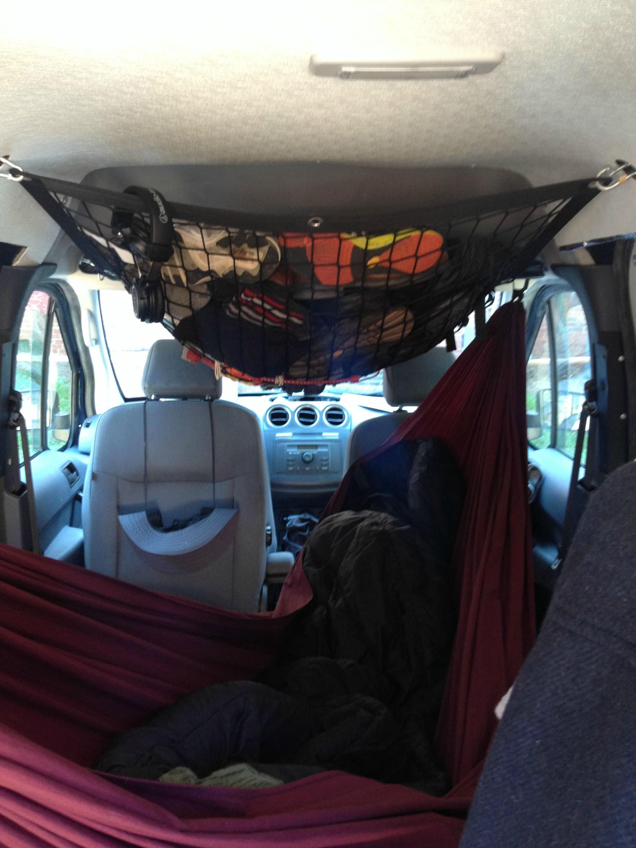 Ford Transit Connect Conversion With Hammock Ford Transit Baby