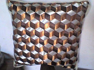 manualidades de tatiana: cojin con cintas | Cojines en