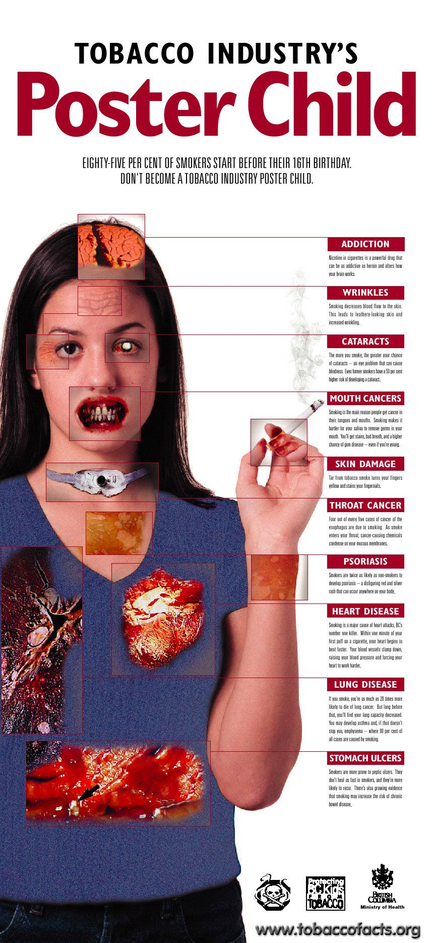Secondhand Smoke Might Triple Childs >> Informative Poster Examples Red Ribbon Week Smoking Facts