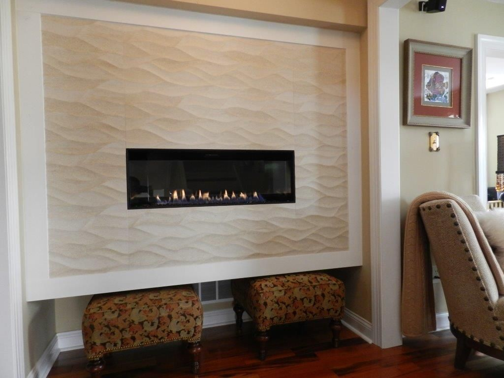 American Hearth Direct Vent Boulevard Linear Gas Fireplace With