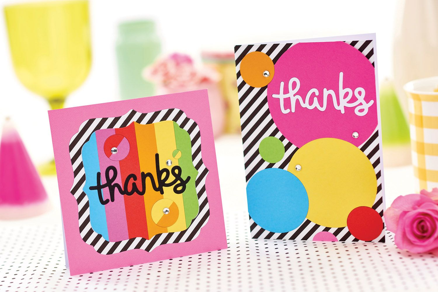 Try our in-laid die-cut thank you cards // PaperCrafter magazine, issue 106 // Image: cliqq.co.uk