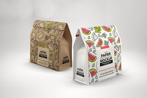 Download Paper Bags With Clip Seal Packaging Mockup Free Psd Templates Packaging Mockup Design Mockup Free Free Psd Design