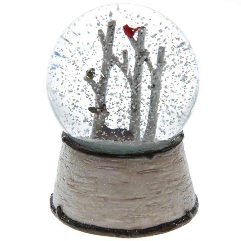 Musical Snowy Woods Snow Globe | Birds | Pinterest