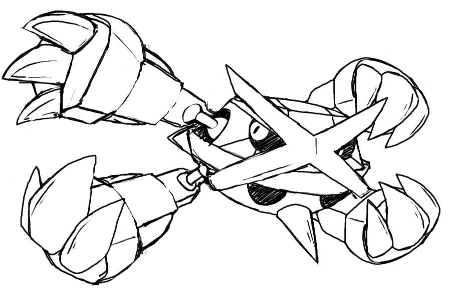 Metagross Sketches Design Reference Art