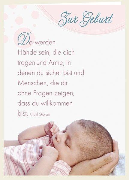 Postkarte Sei gesegnet Zur Geburt