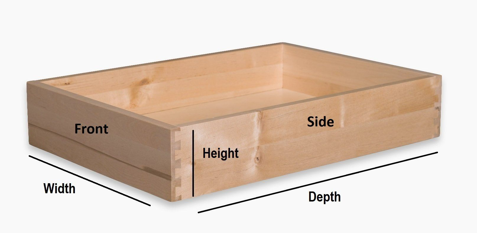 Replacement Solid Wood Drawer Boxes Drawer Box Cabinet Drawers