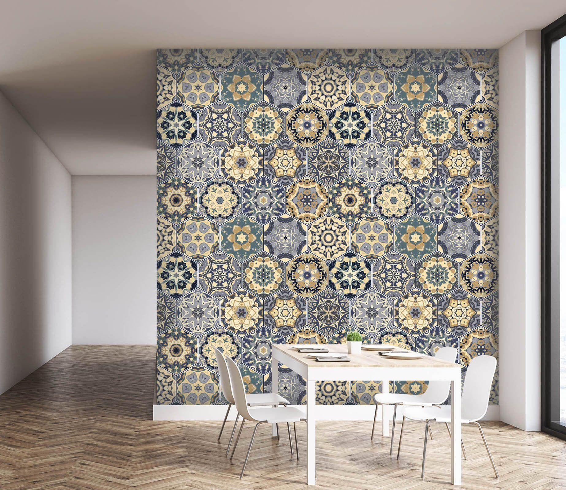 3D Vintage Mosaic 070 Marble Tile Texture Separadores de