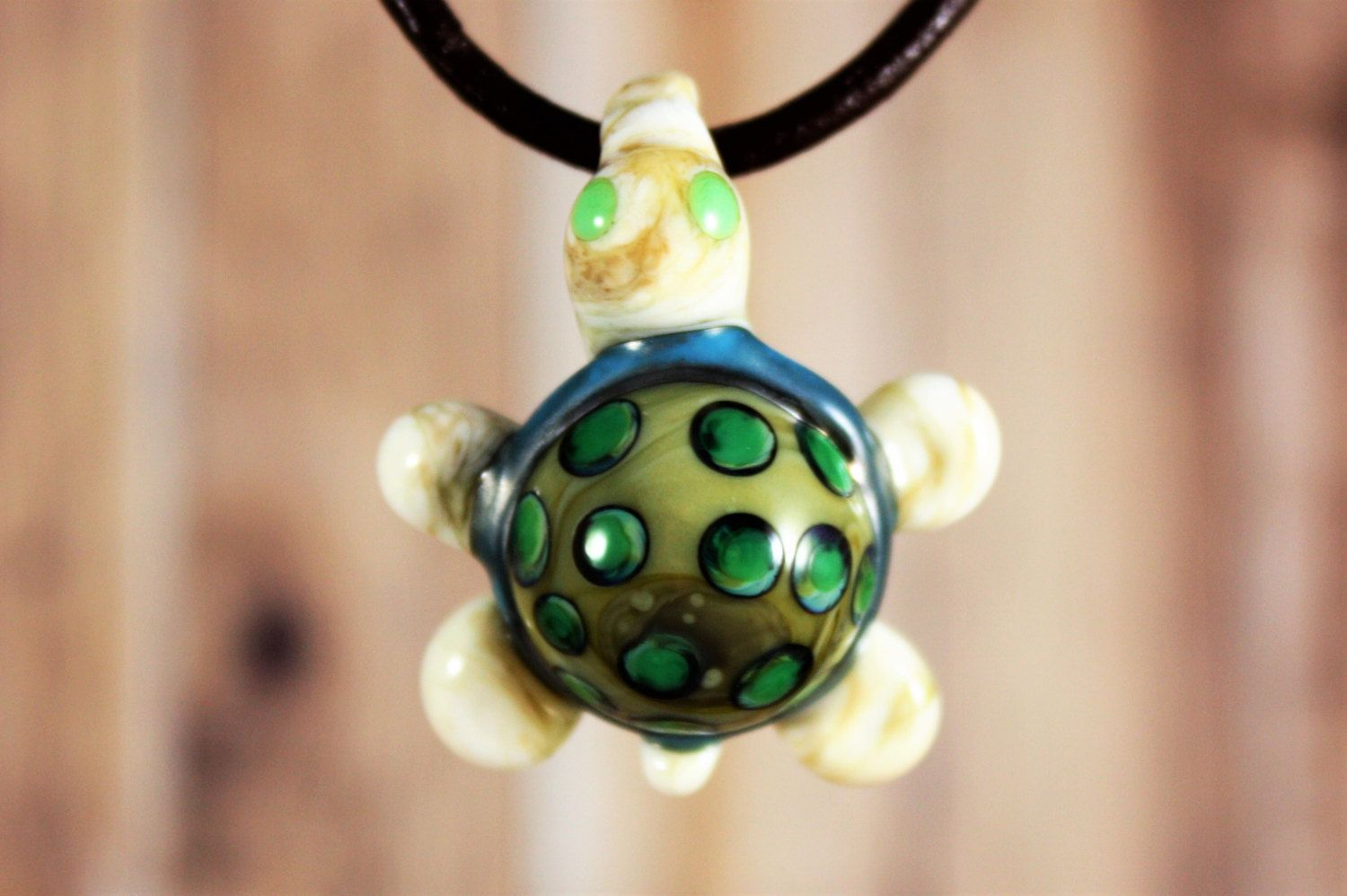 Turtle pendant necklace trippy glass turtle necklace heady glass turtle pendant necklace mozeypictures Images