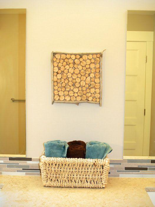 12 x 12 Driftwood Log Slice Wall Decor by logslicesbymargie | Log ...