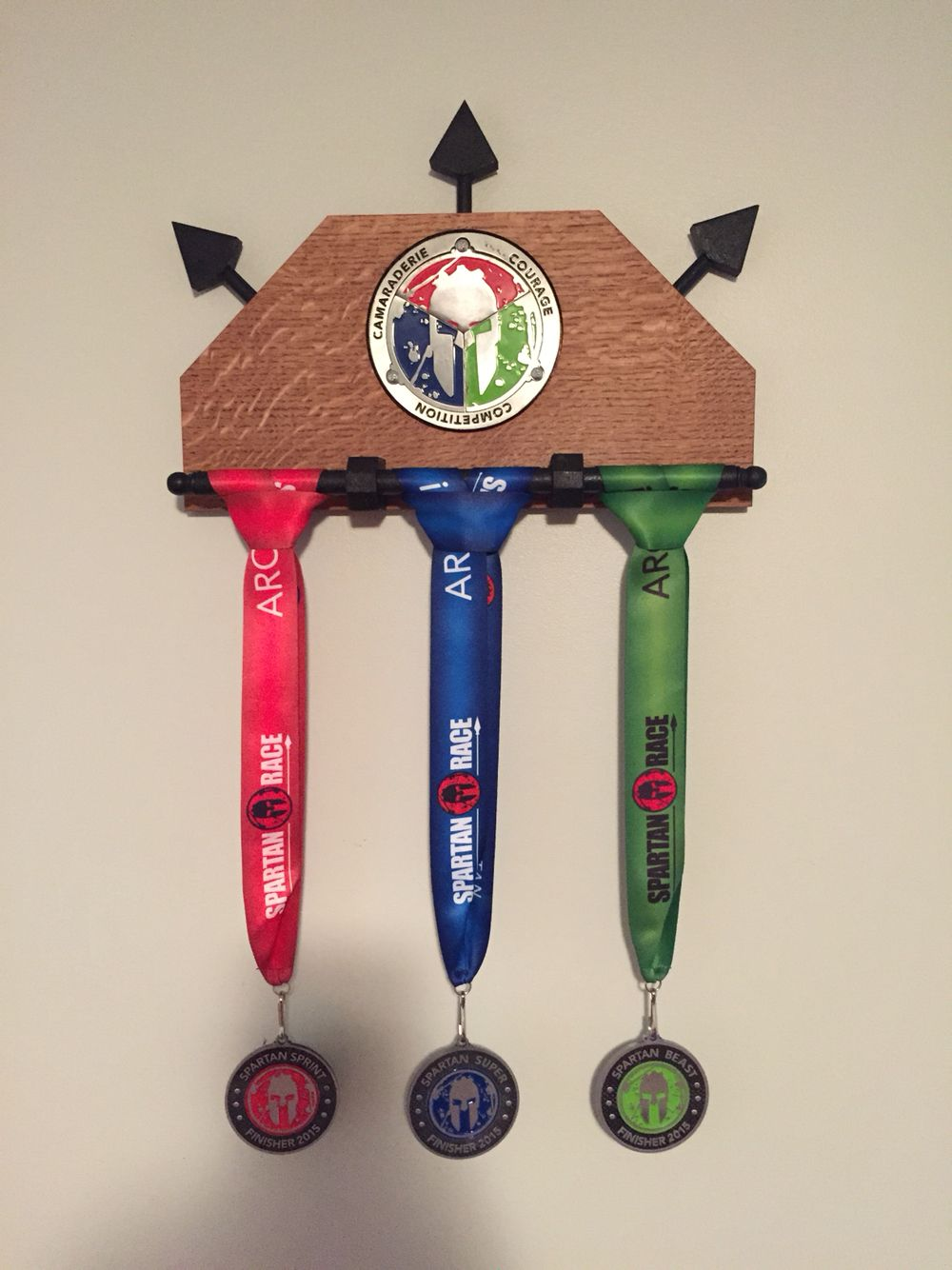 Spartan race trifecta display holder | Medallero spartan ...