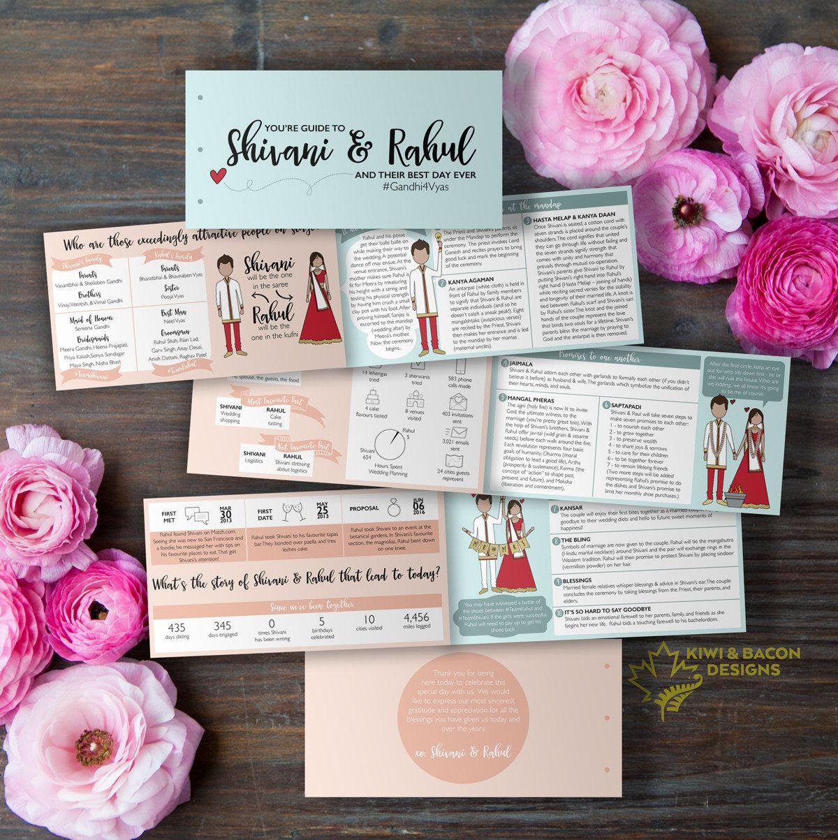 Indian Wedding Program: Boho Indian Infographic (Printable) -- Hindu ...