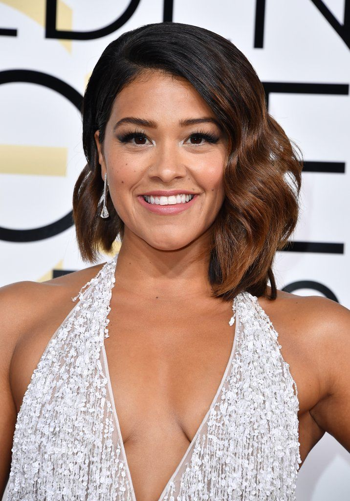 Get A Close Look At All The Glamorous Beauty Style At The Golden Globes Balayage Hair Hair Color Hispanic Hair
