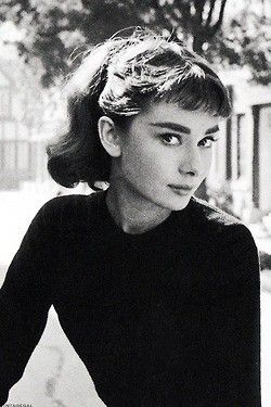 baby bangs on audrey hepburn