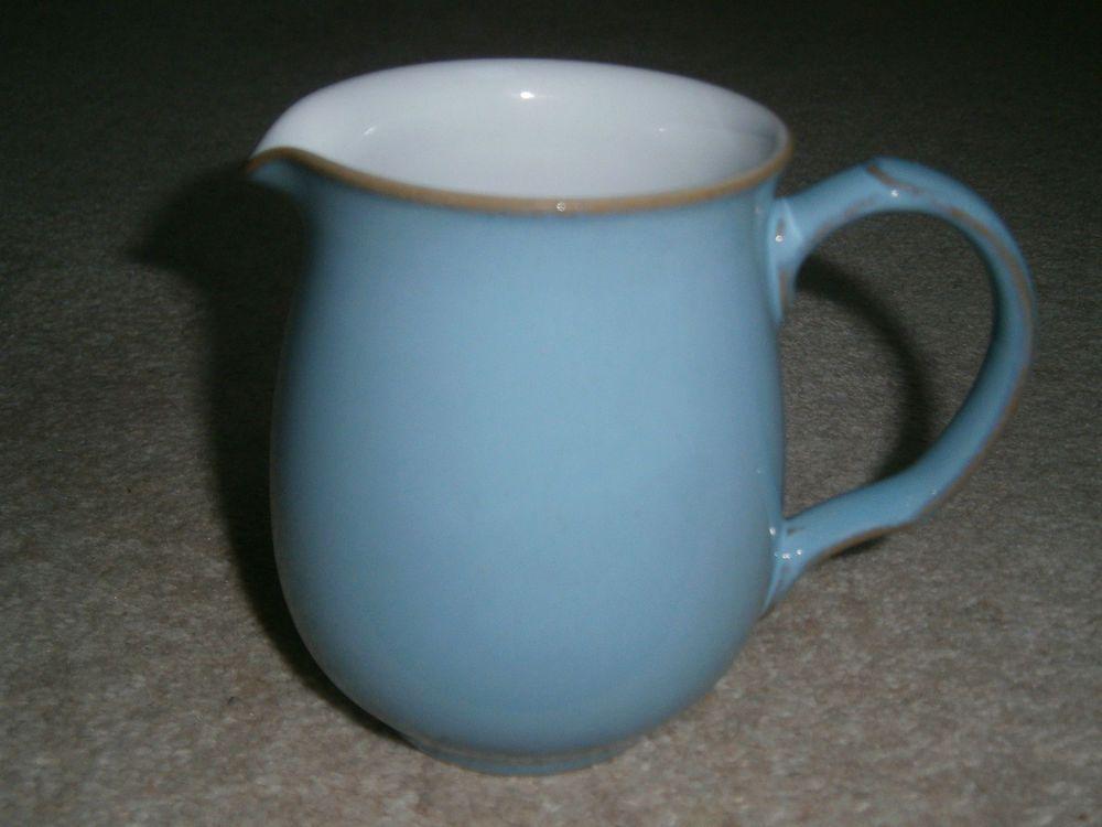 A LOVELY STYLISH RARE DENBY COLONIAL BLUE MILK JUG 4 INCH ...
