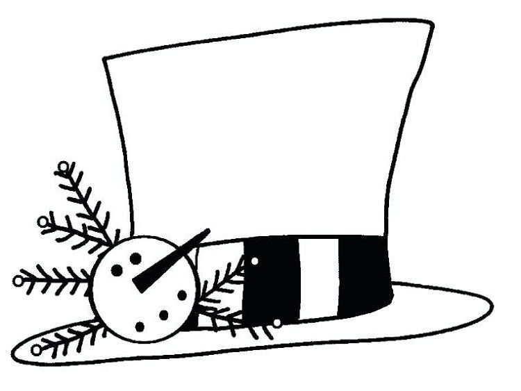 Coloring Pages Of Snowman Hats Download Or Print The Image Below