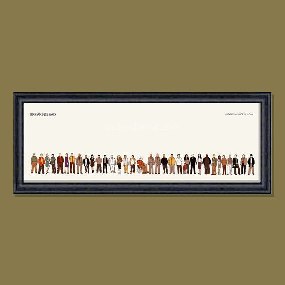 Breaking Bad framed limited edition 12x4 inches print | Breaking bad