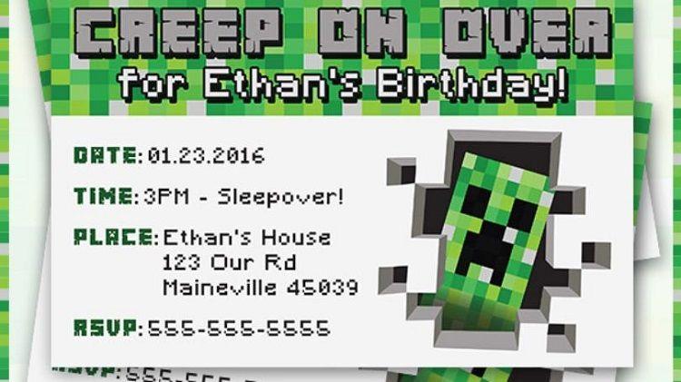 How To Make Minecraft Birthday Invitations
