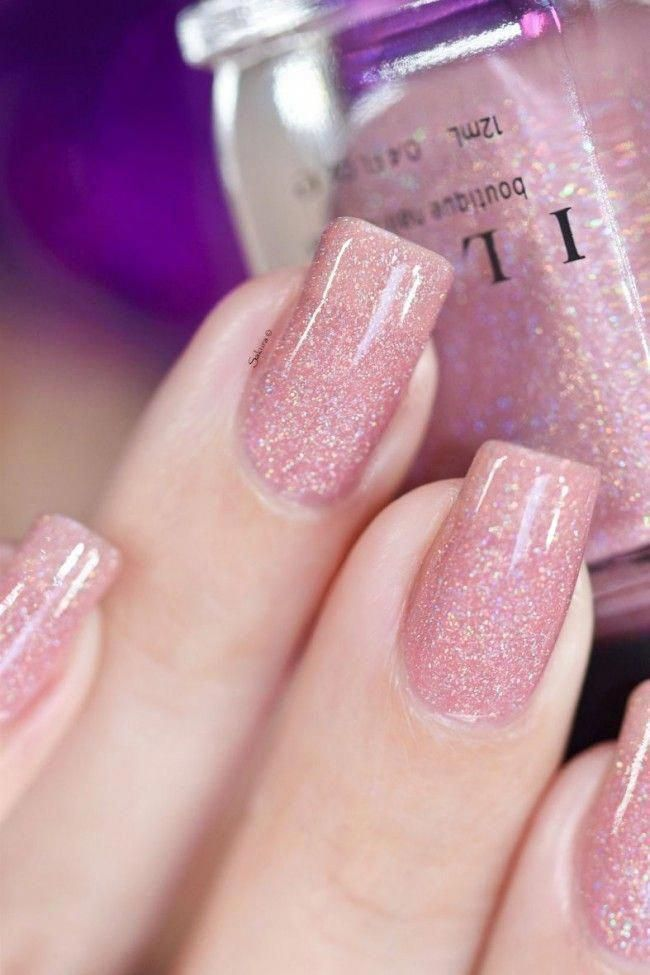Sweet Pea - Seashell Pink Holographic Sheer Jelly
