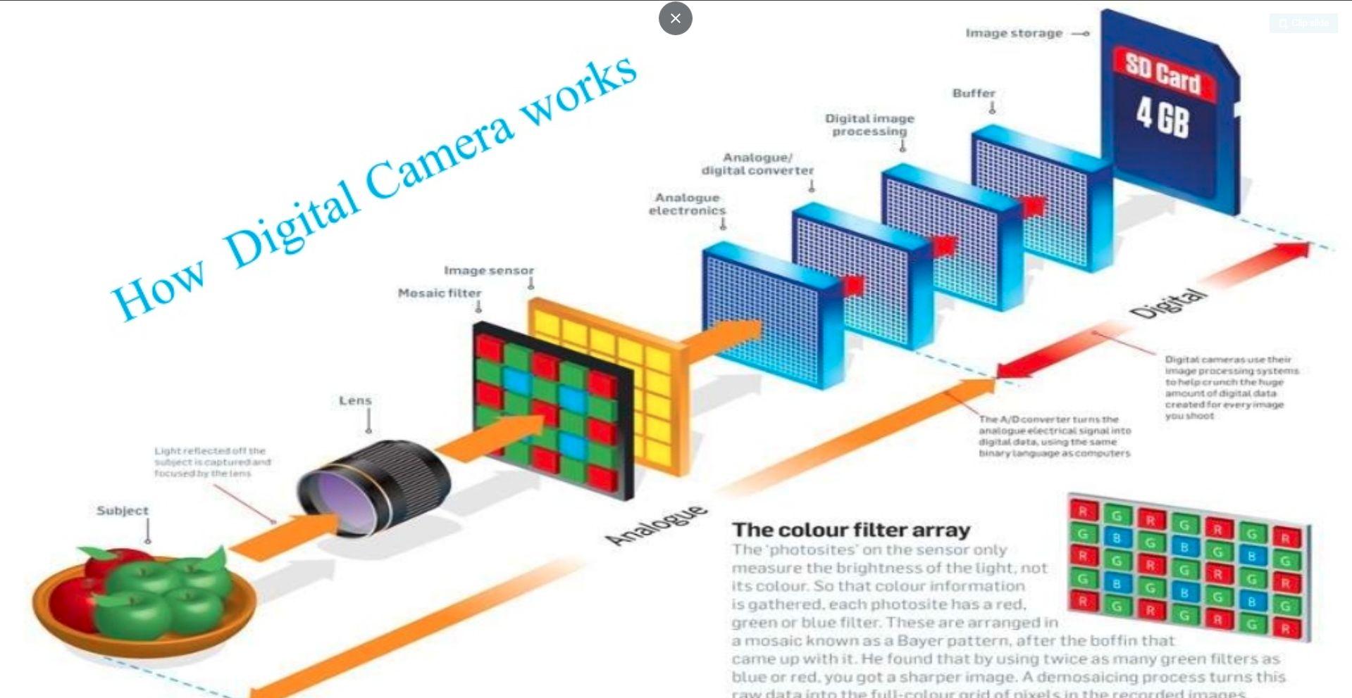 Digital Camera Working Scheme Camera Sensor Size Digital