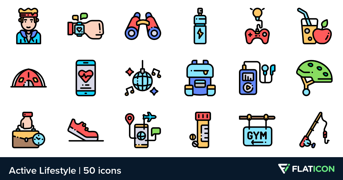 50 free vector icons of Active Lifestyle designed by