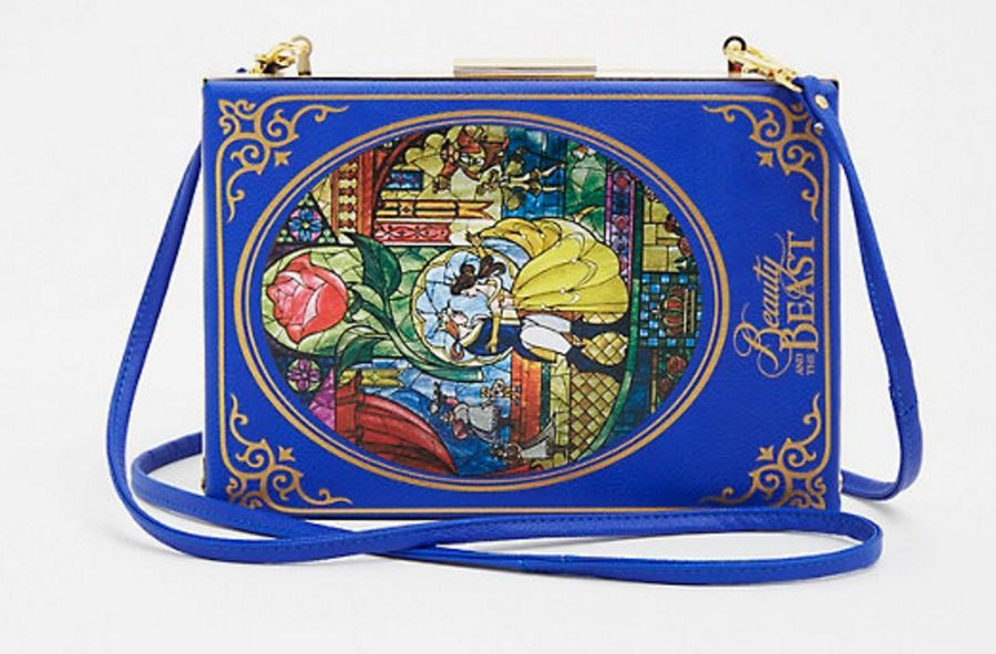 Womens Beauty And The Beast Book Clutch Handbag Bag Purse Belle