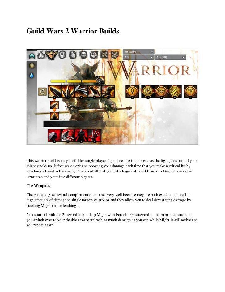 guild-wars-2-warrior-builds by makemoneyonlinequick via Slideshare