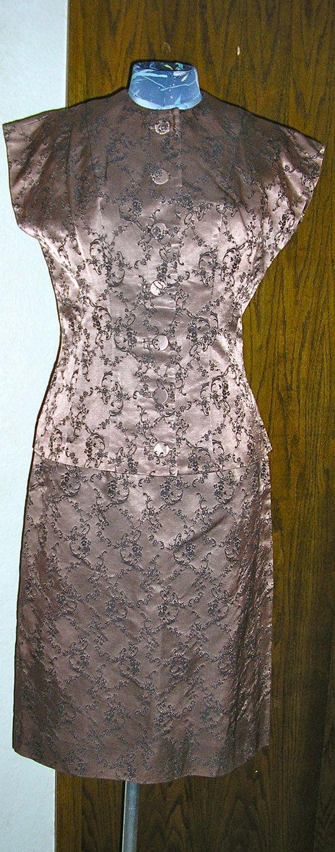 S brocade bronze oriental style dress and by chloeandnatalievtg