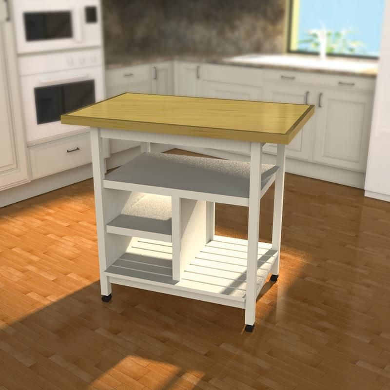 Build Kitchen Island Carts with these plans designed for the Kreg ...