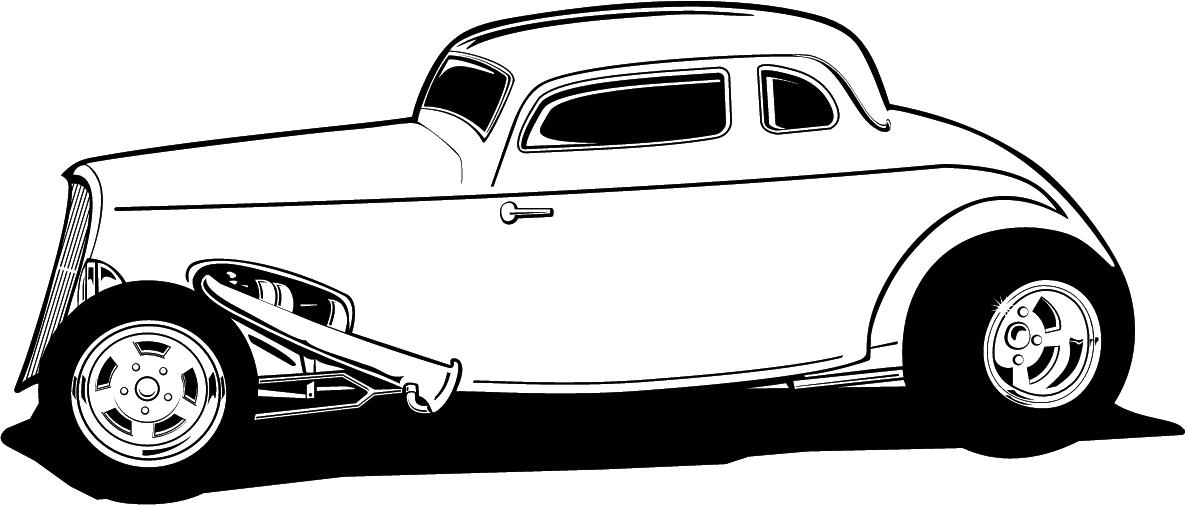 Hot Rod Clip Art Free | coloring book | Pinterest | Clip art free ...