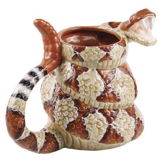 Rattlesnake Coffee Mug Cup The Late Show with Craig Ferguson 20oz.