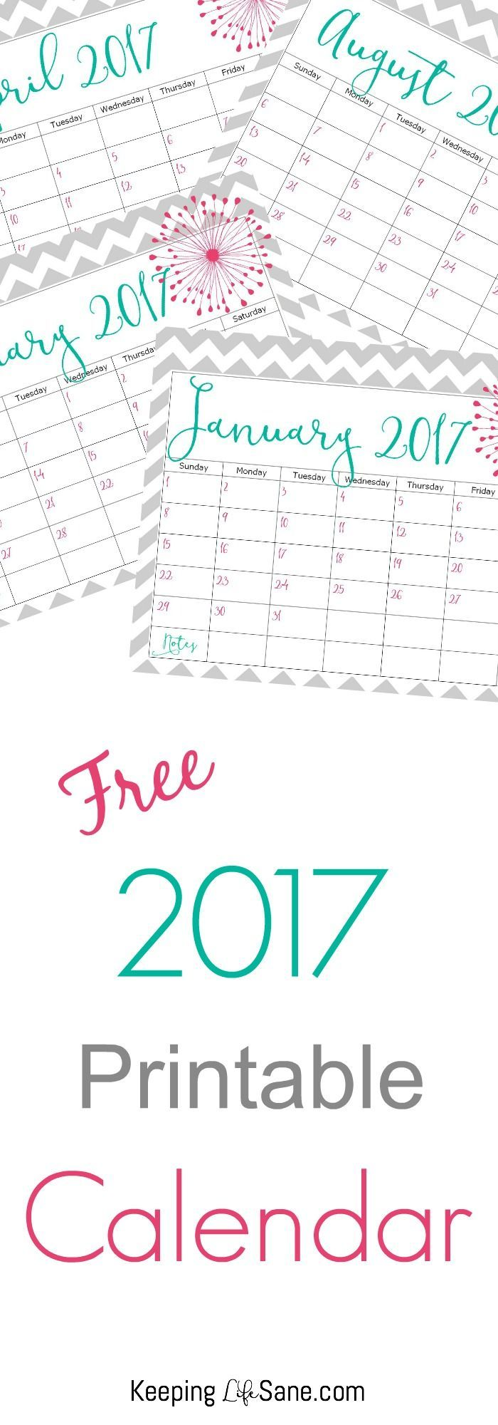 Awesome Free Printable  Calendars And Planners  Free