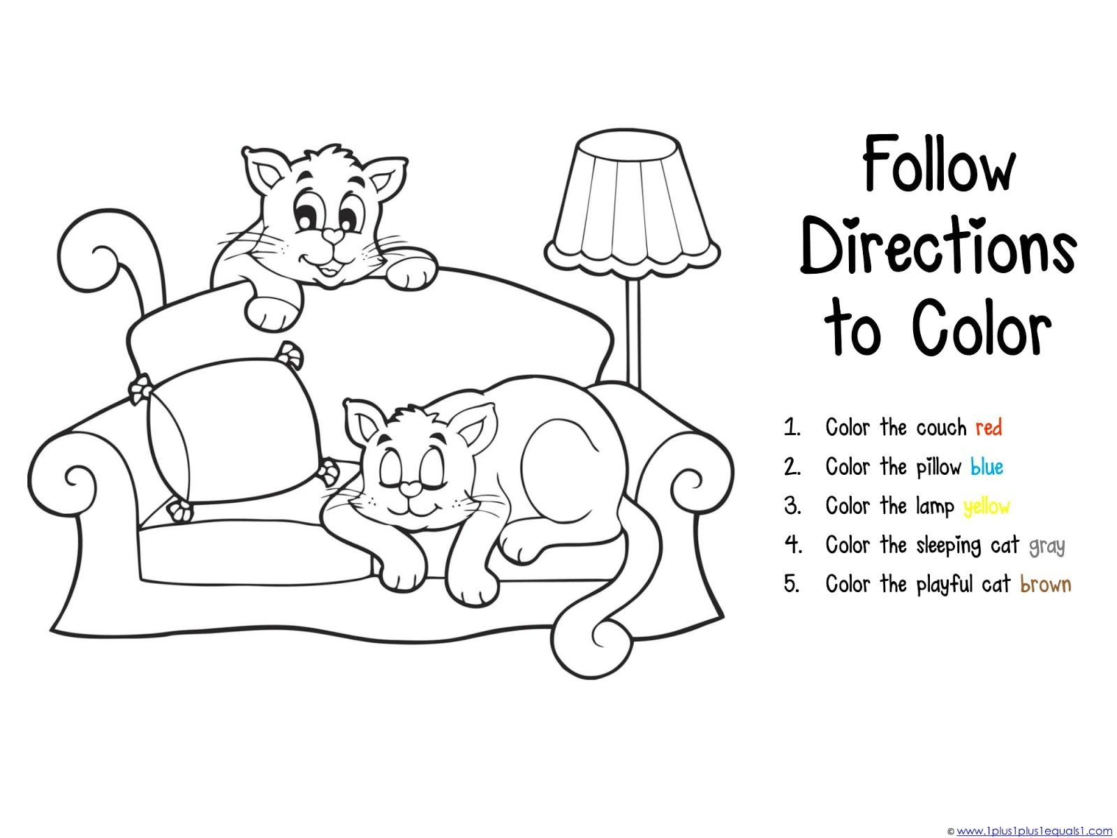 Coloring Pages Dog And Cats For Preschool